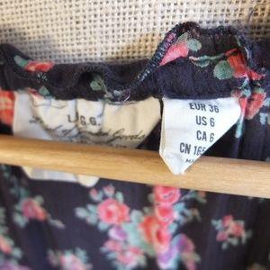 H&M Dresses - H&M Floral Peasant 3/4 Sleeve Midi Dress Size 6